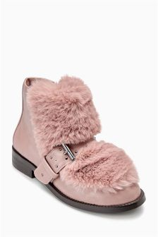 Faux Fur Buckle Boots (Older Girls)
