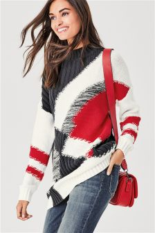 Statement Spliced Sweater