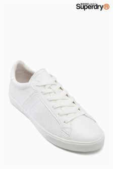 Superdry White Court Trainer