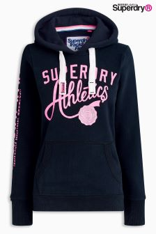 Superdry Black Athletics Over Head Hoody