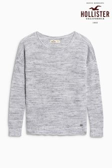 Hollister Grey Waffle Knit
