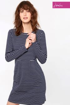 Joules Navy Stripe Daylia Jersey Dress