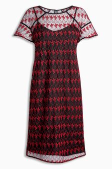 Placement Print Dress