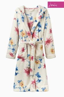 Joules Cream Clematis Rita Dressing Gown