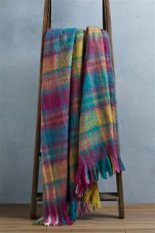 Faux Mohair Bright Throw