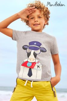 Boden Grey Novelty Animal T-Shirt