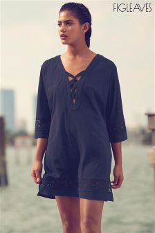 Figleaves Navy Icon Lattice Tunic