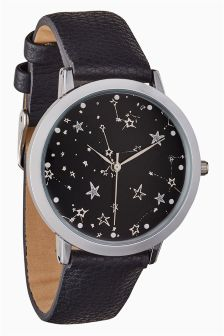 Star Dial Strap Watch