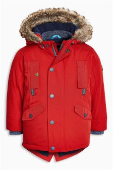Buy Older Boys Younger Boys coats and jackets Jackets Red from the ...