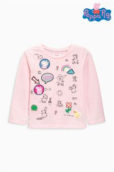 Peppa Pig™ Badge Long Sleeve T-Shirt (3mths-6yrs)