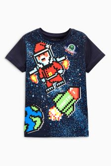 Space Scene Christmas T-Shirt (3-16yrs)