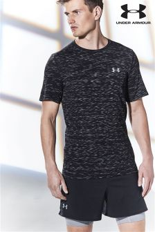 Under Armour Run Black Threadborne T-Shirt