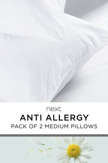 2 Pack Anti-Allergy Pillows
