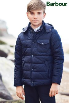 Barbour® Navy Quilted Cowl Jacket