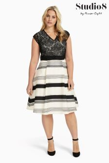 Studio 8 Black/Ivory Coco Dress