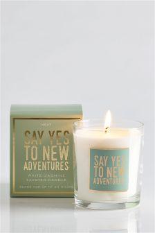 White Jasmine Boxed Sentiment Candle