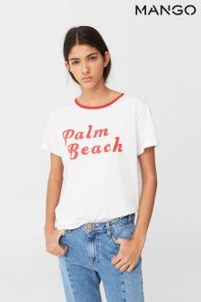 Mango White/Red Palm Beach Tee