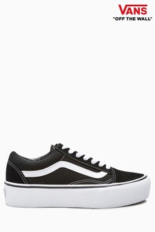 Vans Black/White Platform Old Skool