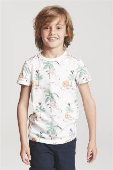 Flamingo All-Over-Print T-Shirt (3-16yrs)