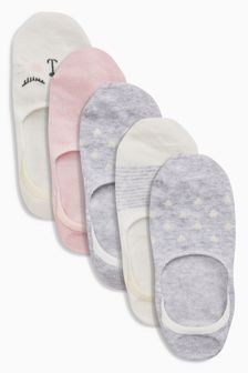 Invisible Trainer Socks Five Pack (Older Girls)