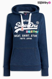Superdry Navy Pull Over Hoody