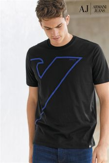 Armani Jeans Black Graphic T-Shirt