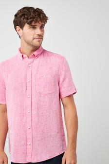 Short Sleeve Pure Linen Shirt
