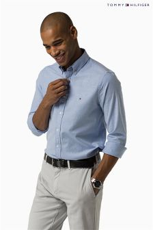 Tommy Hilfiger Light Blue Stretch Oxford Street