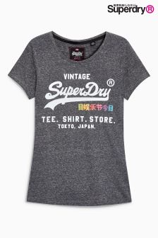 Superdry Black Rainbow Tee