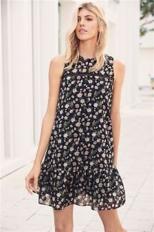 Frill Hem Swing Dress
