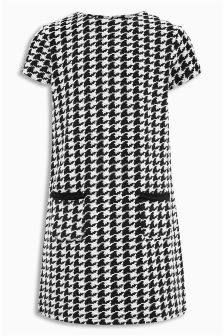 Dogtooth Pocket Dress (3-16yrs)