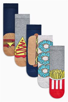 Fast Food Socks Five Pack (Older Boys)