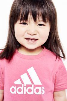 adidas Baby Pink Stack Logo Tee