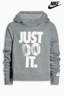 Nike Grey JDI Crop Hoody