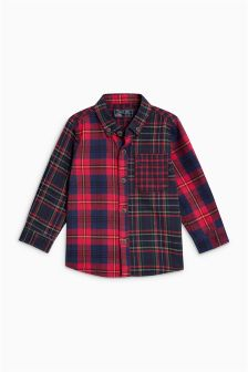 Boys Splice Tartan Shirt (3mths-6yrs)