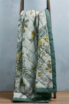 Orchard Floral Quilted Throw