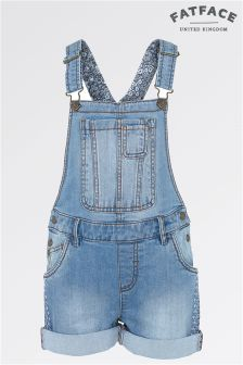 Fat Face Denim Shortie Dungarees