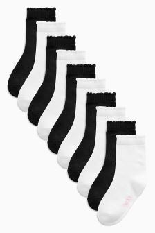 Plain Socks Ten Pack (Older Girls)