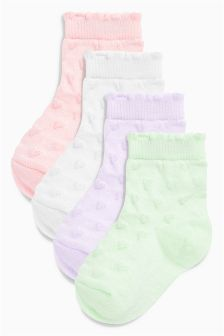 Socks Four Pack (Younger Girls)