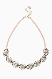 Pretty Jewel Cord Detail Necklace