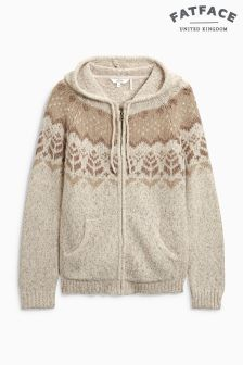 Fat Face Ivory Alice Fairisle Yoke Hoody