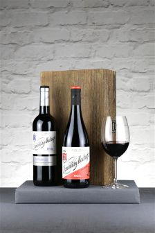 2 Bottles Of Red Rioja In Hinged Wood Box
