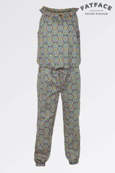 Fat Face Light Khaki Giraffe Print Woven Jumpsuit