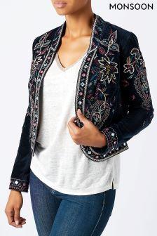 Monsoon Blue Gabriella Embellished Jacket