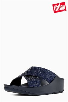 FitFlop™ Supernavy Crystall Slide