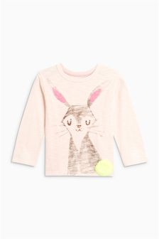 Rabbit Long Sleeve Top (3mths-6yrs)