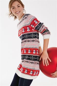 Snowman Fairisle Pattern Tunic