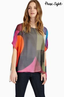 Phase Eight Multi Phoenix Printed Silk Blouse