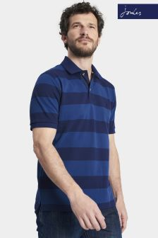 Joules Blue Stripe Classic Fit Filbert Polo