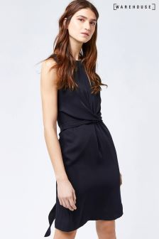 Warehouse Navy Sleeveless Wiggle Dress